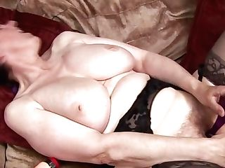 Granny From 90s Is Playing Fake Penis With Antique Anal Dildo In...