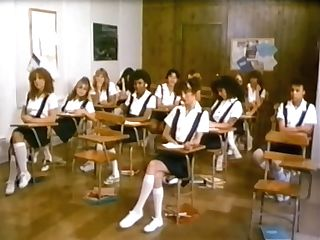 Retro School Female With Fur Covered Pussyfacesits On Horny Dude
