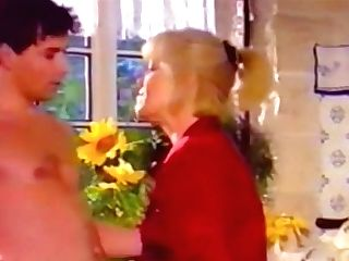 Blonde Grand-ma Gets Pounded On The Table